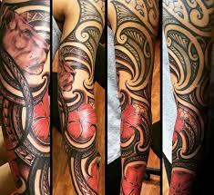 Polynesian Flower Tattoo - 80 hibiscus tattoo designs for men flower ink ideas