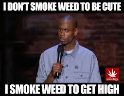 Smoke Weed Meme - i don t smoke weed to be cute i smoke weed to get high dave
