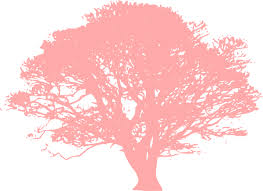 pink tree clip at clker vector clip
