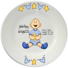 baby birth plates personalized flair original personalised baby birth plates