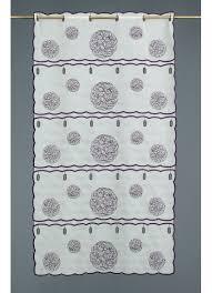 brise bise coeur voilage brise bise en étamine brodée motifs gris homemaison