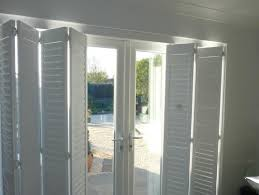 Plantation Shutters For Patio Doors Plantation Shutters Fitted On A Track System Are A Great Way To
