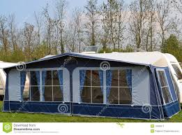 Awning For Travel Trailer Travel Trailer With Awning Tent 1 Stock Image Image 19496911