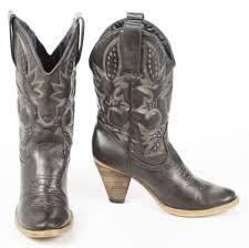 womens boots vegan volatile denver black cowboy boots 3 high heels studs vegan