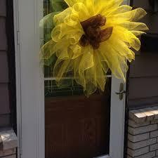 Sunflower Mesh Wreath Shop Autumn Mesh Wreaths On Wanelo