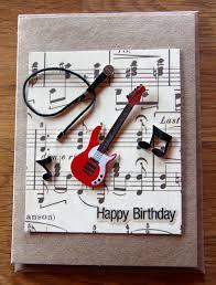 Music Decor by Handmade Cards Handmade Birthday Cards Band Card Music Card