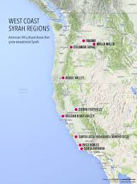 Map Oregon Coast by Treasure Map Of West Coast Syrah Wine Folly