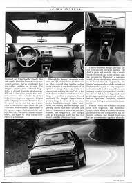 1986 acura integra road test car u0026 driver team integra forums