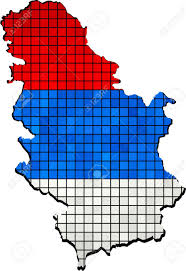 Map Of Serbia Serbia Map With Flag Inside Vector Map Of Serbia Map Of Serbia
