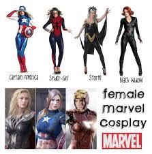 Marvel Female Halloween Costumes 25 Female Marvel Cosplay Ideas Female