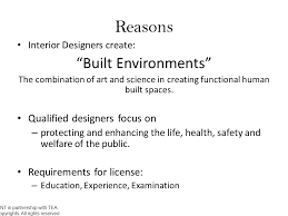 Requirements For Interior Designing Interior Design License Requirements Ppt Video Online Download