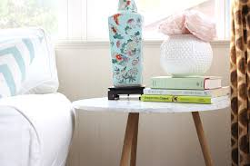 diy marble end table makeover checking in with chelsea