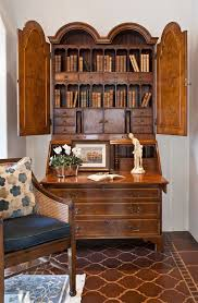 stunning secretary desk with hutch decorating ideas for living