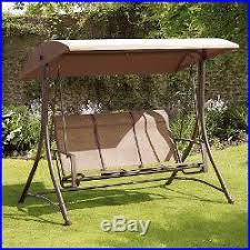 Patio Swings And Gliders Patio Swing With Canopy 3 Seat Glider Porch Backyard Home Garden