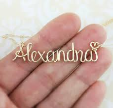Make Your Own Name Necklace Personalized And Custom Jewelry Etsy