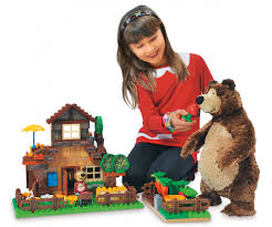 playbig bloxx masha bear masha u0027s garden toy baby
