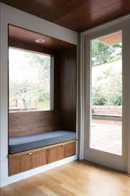 Bench By Front Door San Francisco Built In Bench Entry Transitional With Glass Door