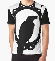 halloween art black raven silhouette edgar allan poe crow