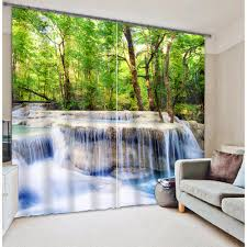 popular 3d drapes buy cheap 3d drapes lots from china 3d drapes stream jungle print modern 3d window curtains drapes for bed room living room office customized curtains
