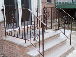 Banister Railing Home Depot Stairs Inspiring Exterior Wrought Iron Railing Fascinating