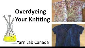 overdyeing your knitting with food coloring youtube