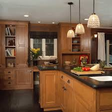Kitchen With Dark Cabinets What Color Hardwood Floor With Dark Cabinets Kitchen Bay Window
