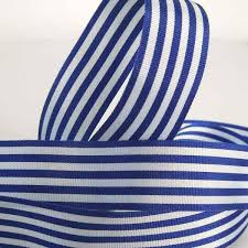 blue and white striped ribbon 16 mm blue striped ribbon by berisfords 5 8 inch royal blue and