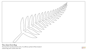 silver fern flag coloring page free printable coloring pages