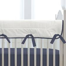 Bed Rail For Crib by Solid Navy Crib Rail Cover Carousel Designs