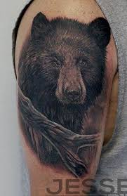jesse rix tattoos tattoos nature tree black bear tattoo