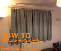 how to put up a curtain pole 9 steps with pictures