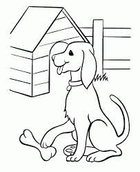 pet dog coloring pages free printable pet dog and his bone puppy