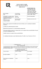 general contractor bid form free print contractor proposal forms