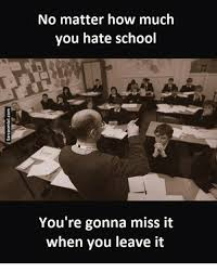 I Hate School Meme - no matter how much you hate school you re gonna miss it when you