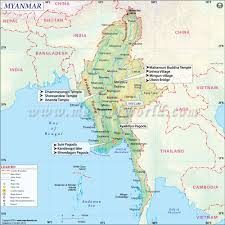 Italy Physical Map by Myanmar Map Detailed Map Of Myanmar Burma