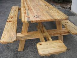 Wooden Folding Picnic Table Rustic Picnic Table With Benches Best Table Decoration