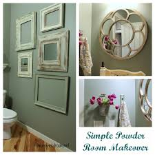 Bathroom Decor Ideas On A Budget Powder Room Take Two 2nd Budget Makeover Reveal The Inspired
