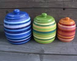 custom set kitchen canisters pick your colors and patterns