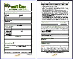 lawn care contract combo estimate u0026 contract form lawn care