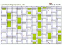 Kalender 2018 Feiertage Mv Ferien Meck Pomm 2017 Ferienkalender Zum Ausdrucken