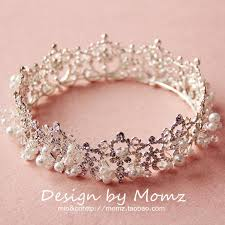 wedding crowns luxury pearls fashion cinderella wedding bridal