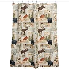 Outdoors Shower - vintage outdoors fabric shower curtain bed bath u0026 beyond