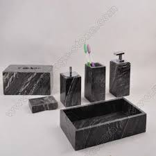 Wooden Bathroom Accessories Set by White Wooden Marble Bath Accessory Set Two City Industry Co Ltd