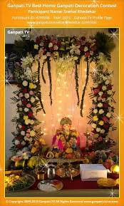 Home Ganpati Decoration 52 Best Ganpati Decoration Images On Pinterest Diwali Ganesha