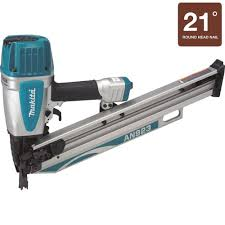 Coil Nails Home Depot by Makita 3 1 2 In 21 Degree Full Round Head Framing Nailer And