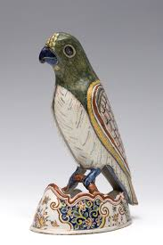 delft polychroom aardewerk vormstuk 18e eeuw porcelain