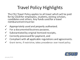 travel policy images Travel policy highlights the csu travel policy applies to all jpg