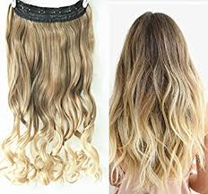 clip in hair extensions uk 3 4 clip in hair extensions ombre one 2 tones wavy