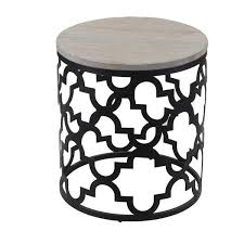 Quatrefoil Side Table Wood Quatrefoil Frame End Table