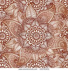 floral henna tattoo style vector seamless stock vector 317359217
